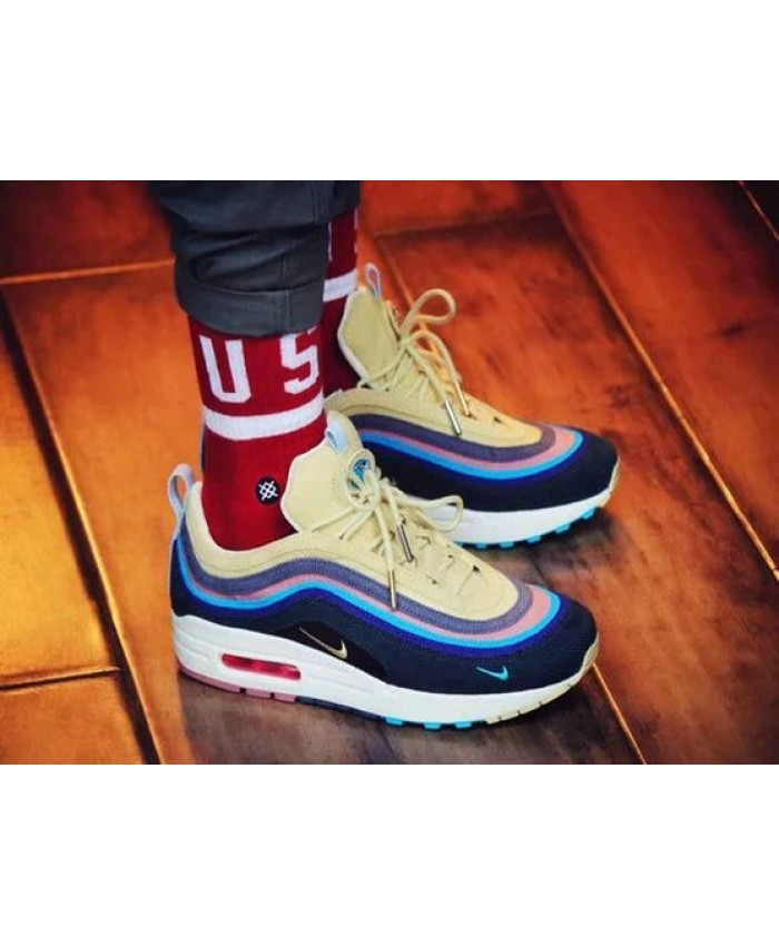 Cheap Nike Air Max 97 Mens Yellow Blue Black Trainers Cheap Nike Air Max Nike Air Max Nike Air