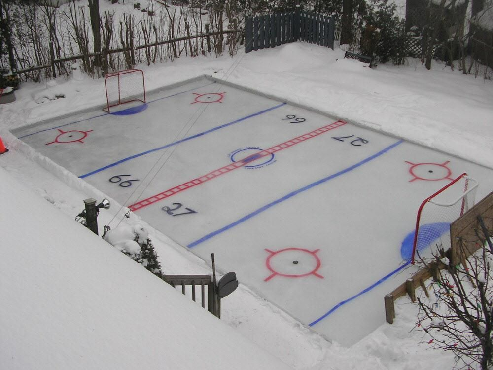 How to build a skating rink (With images) | Backyard ice ...