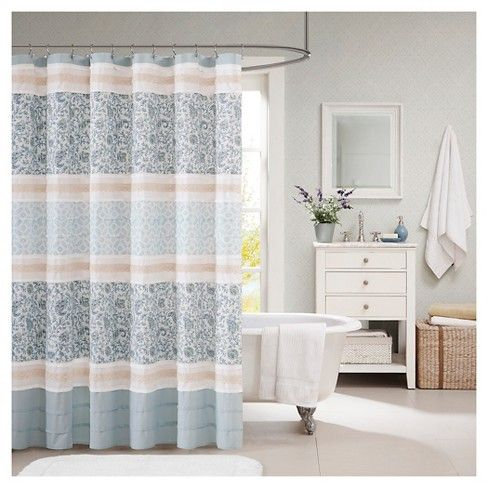 Stella Floral Cotton Shower Curtain Target