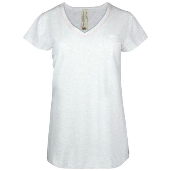 comazo | Erde Fairtrade Shirt 1/4 Arm, Lachs und Ecru Melange   – Products