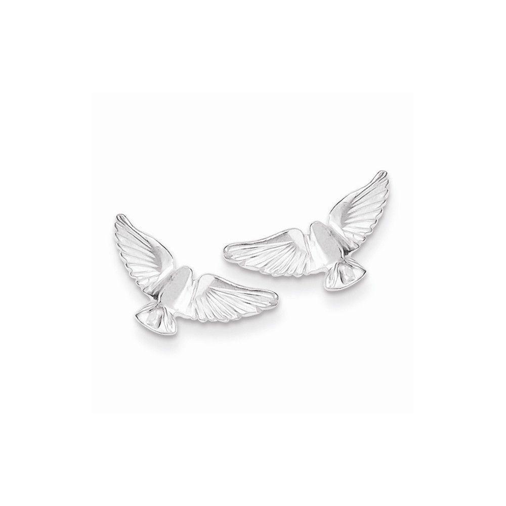 Sterling Silver Bird Mini Earrings
