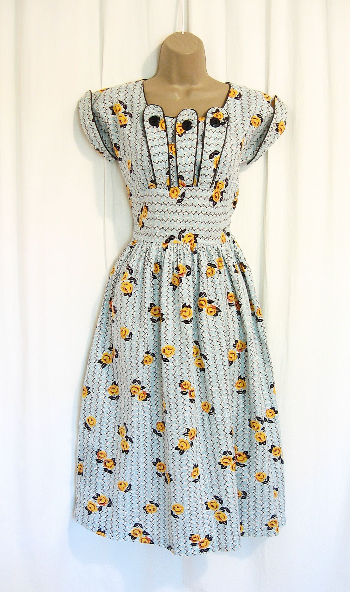 40s cotton dress