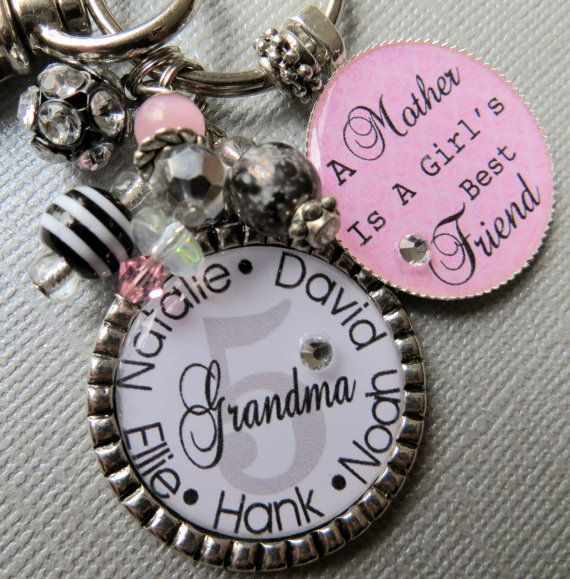 Grandma Keychain A Mother Is A Girl's Best Friend  by buttonit, $23.50