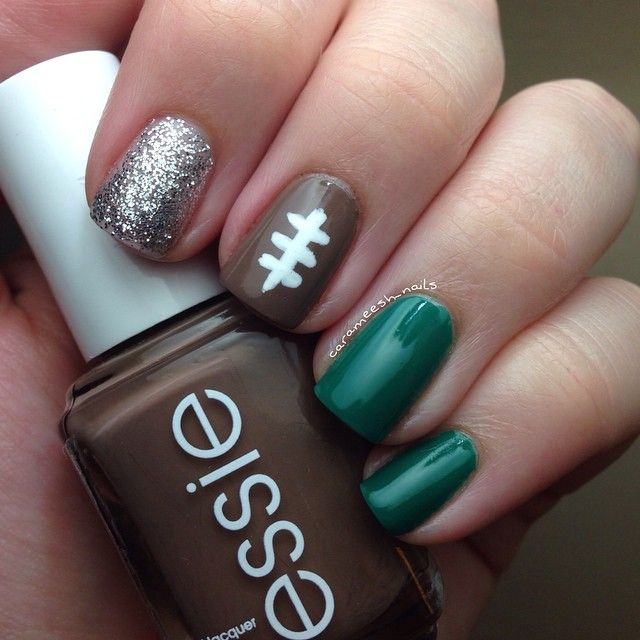 Gameday manicure! Except gold not silver #PACKERS | 2016 & before ...