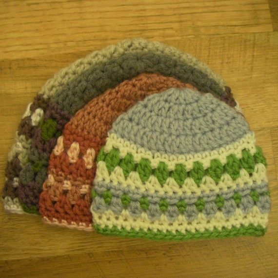 Instant Download - Crochet Pattern - Galilee Hat (Newborn to Adult ...