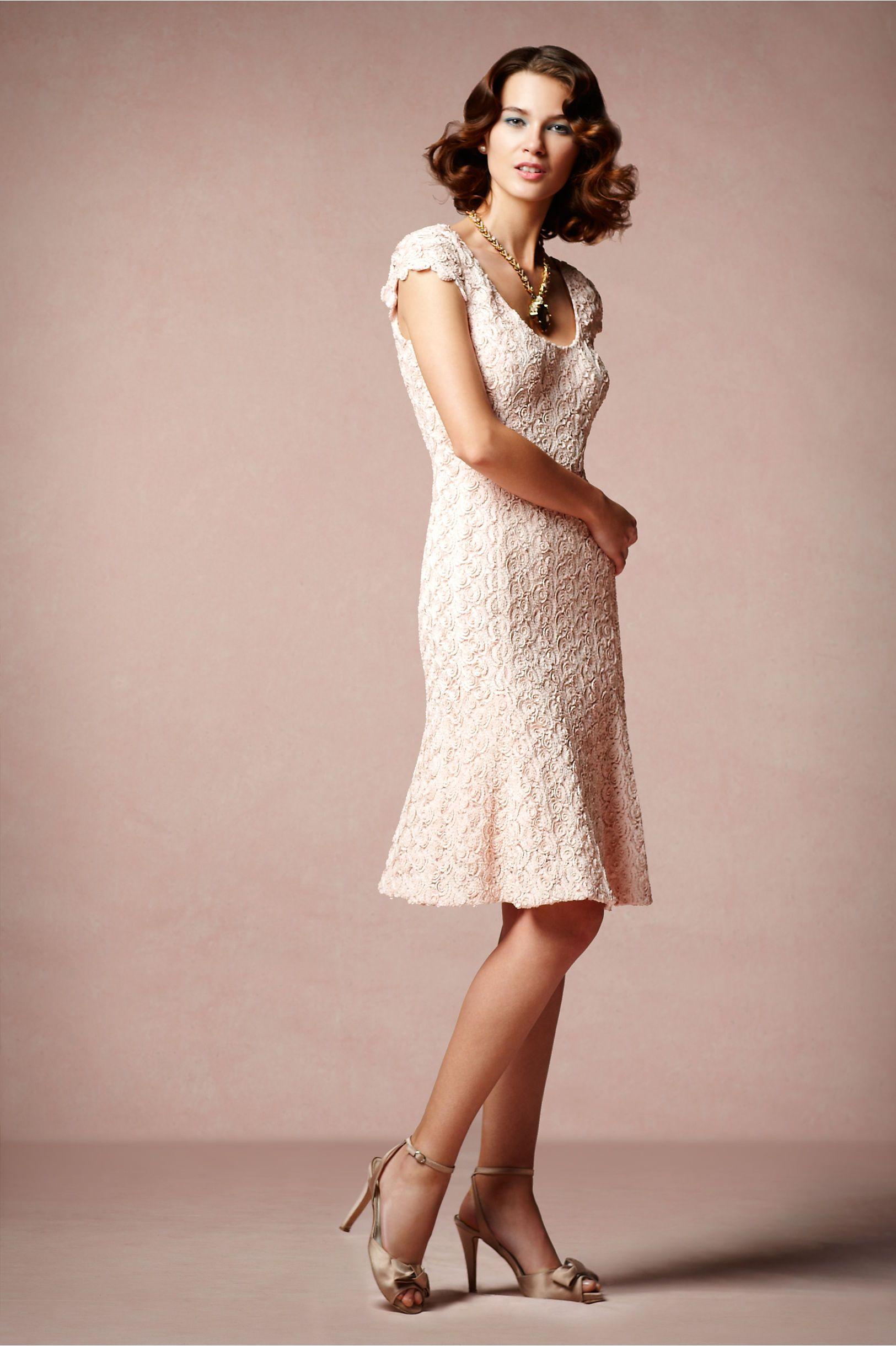 Rose Cava Dress in The Bride Reception Dresses at BHLDN | Crochet ...