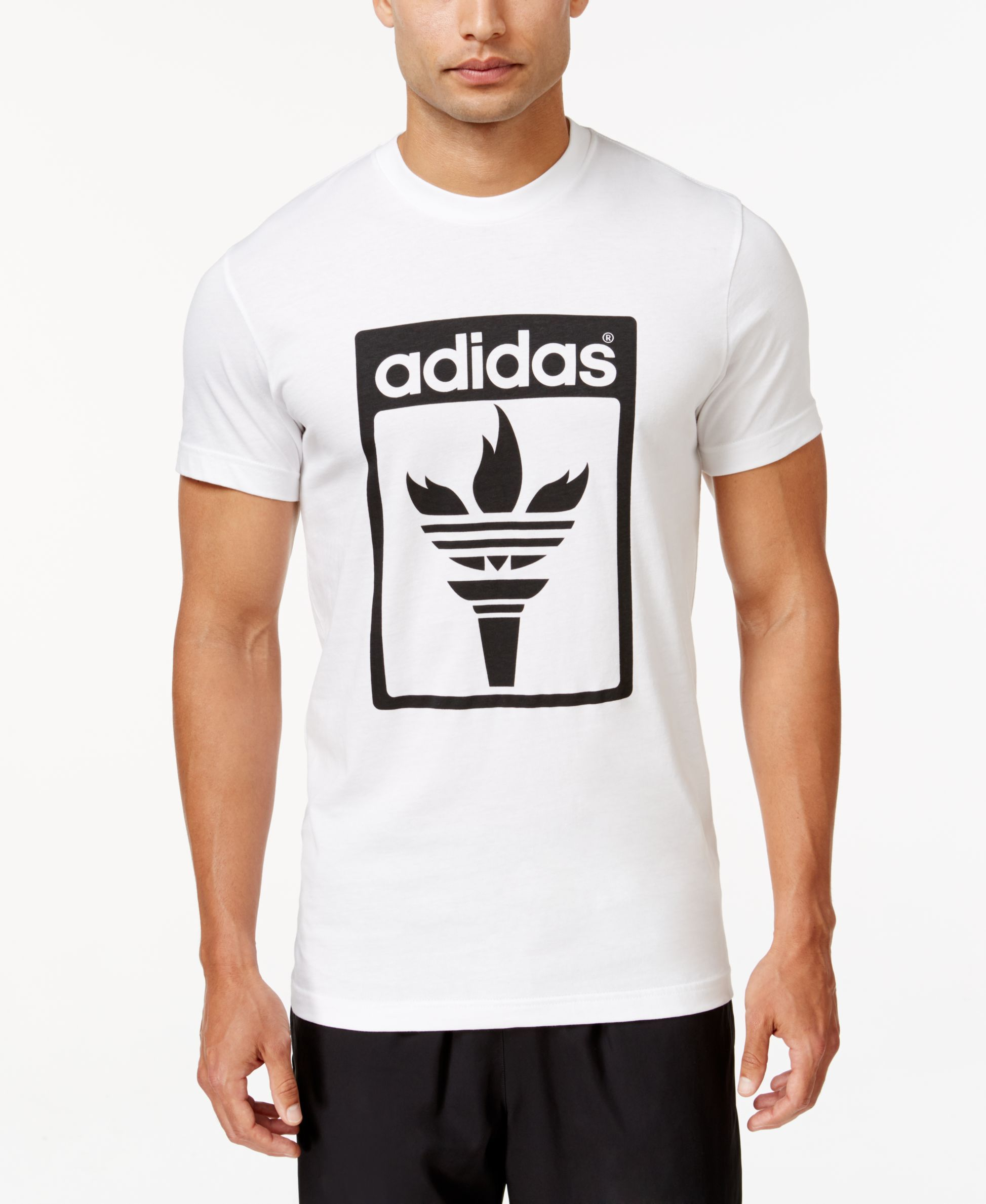 adidas Originals Men's Trefoil Fire Graphic T-Shirt - T-Shirts - Men -  Macy's