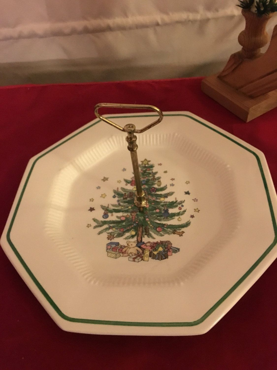 Nikko Christmas tree cookie dish by HollyWouldFind on Etsy ...