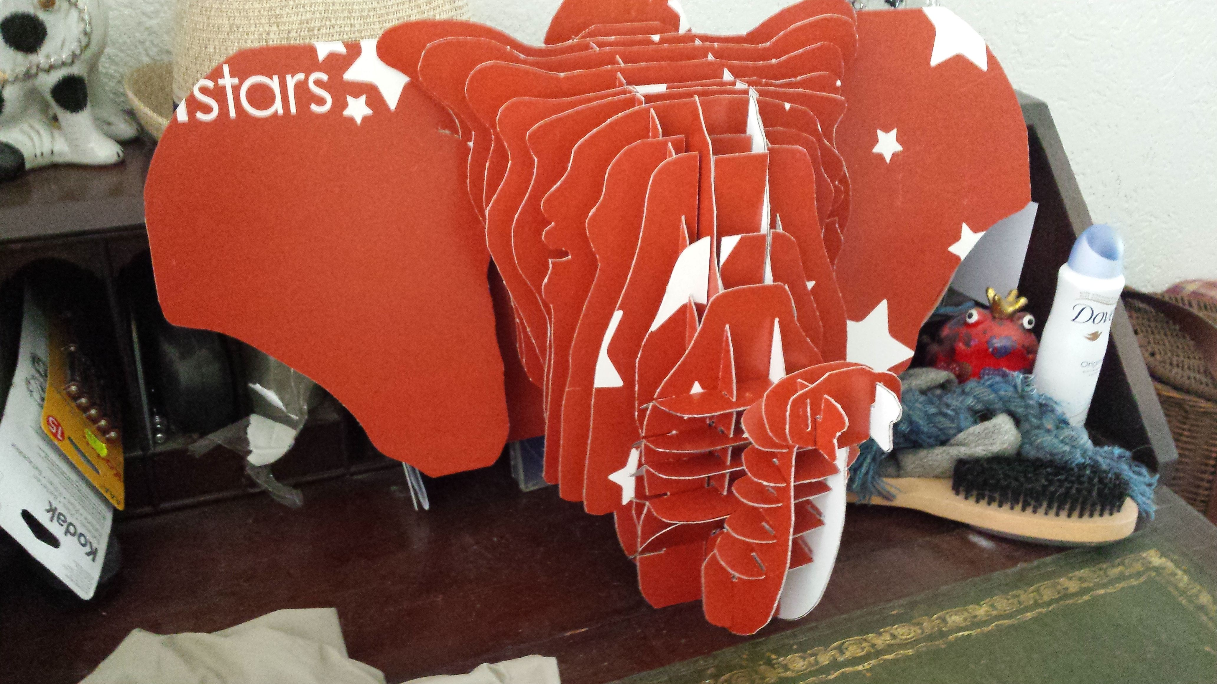 my attempts at being creative with 3D cardboard - Elephant