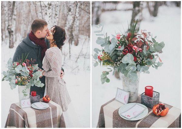 Идеи для свадьбы зимой оформление 24