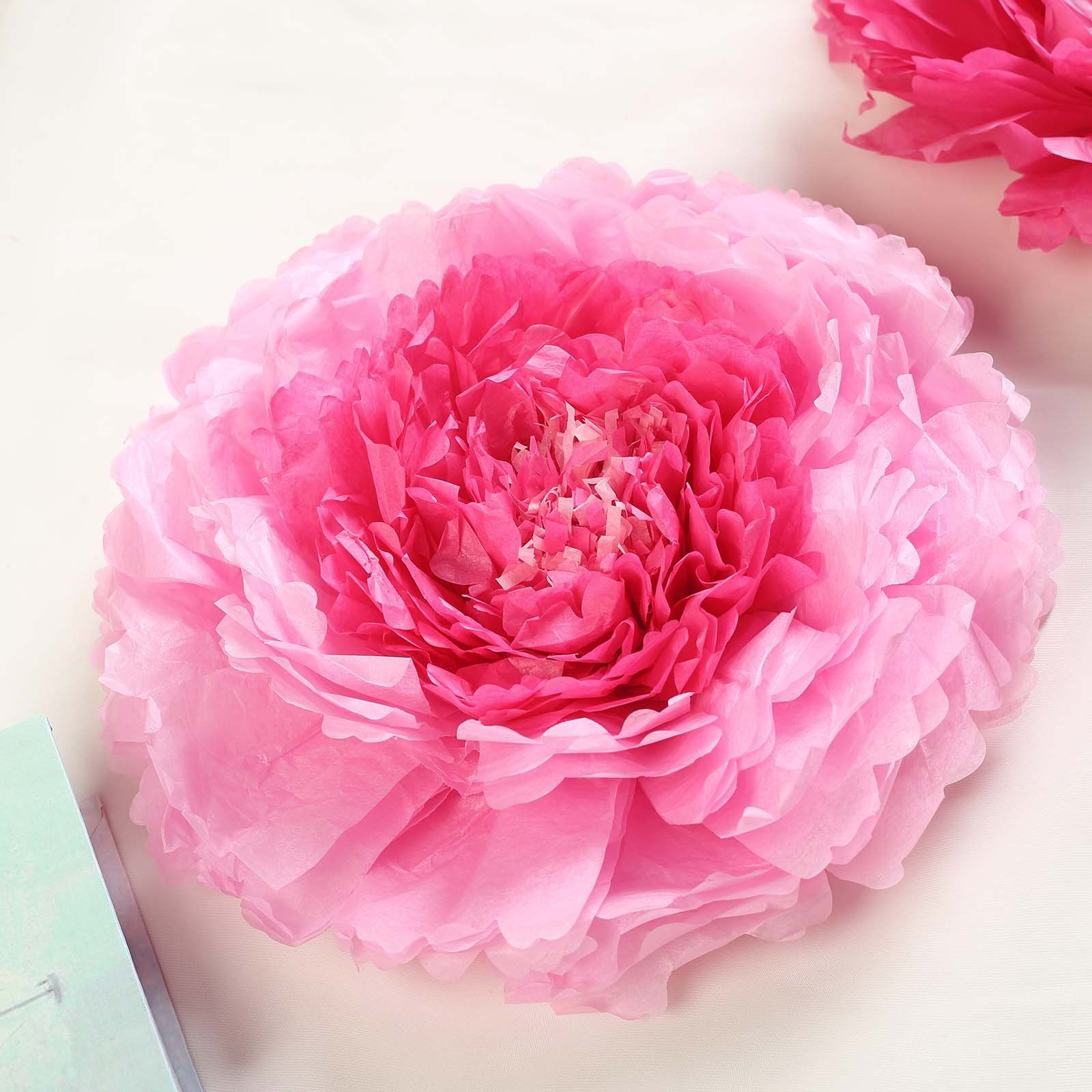 6 Multi Size Pack Carnation Pink Fushia 3d Wall Flowers Giant Tissue Paper Flowers 12 16 20 In 2020 Tissue Paper Flowers Paper Flowers Carnations