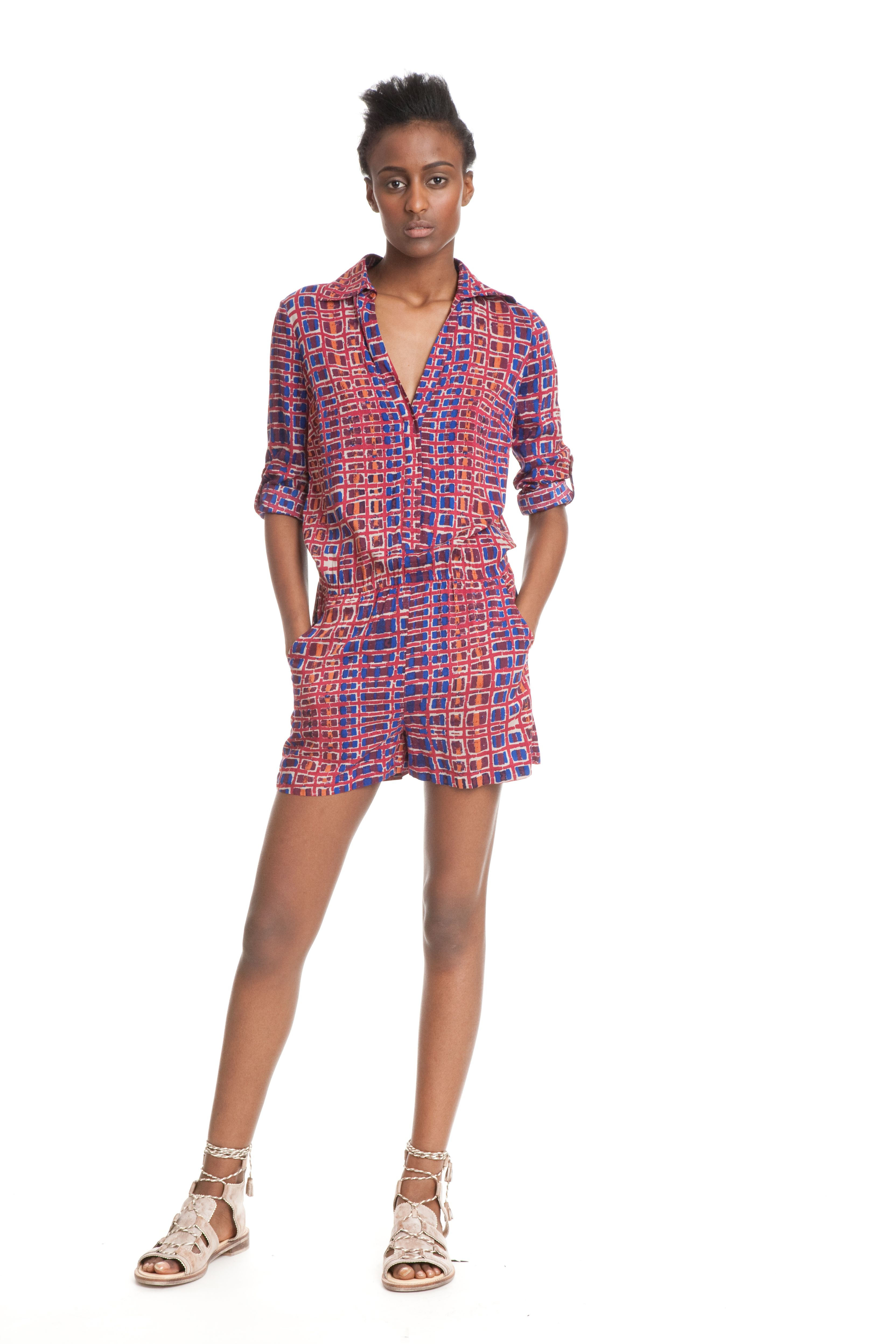 Easy Romper - This romper will easily make it to your top five go-to outfits, just throw it on and go. It is really just that easy!