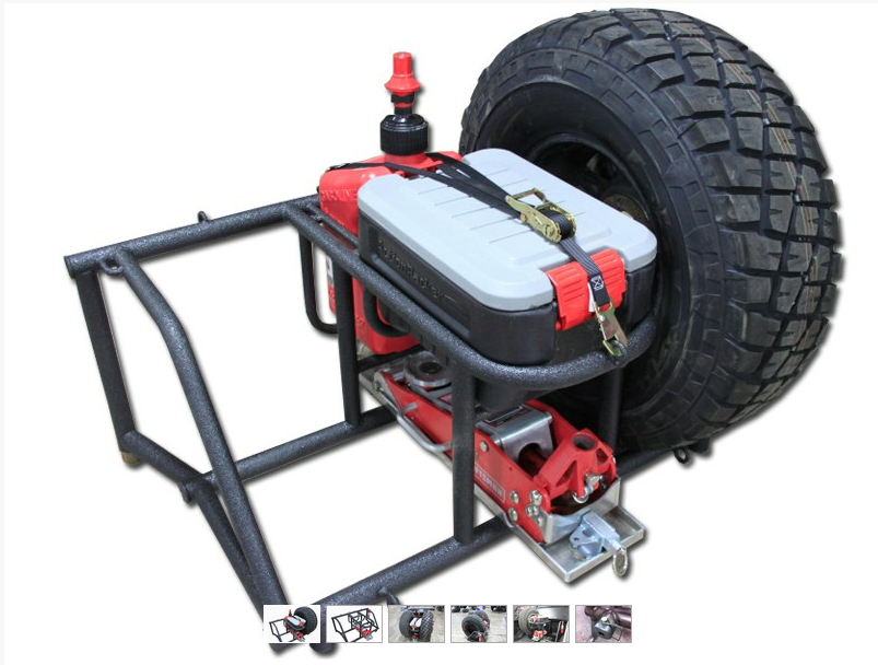 orp vertical tire bed rack custom