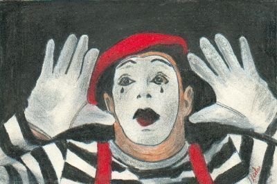 Sad Mime - Male - By Leola Walker from Theatre art exhibit