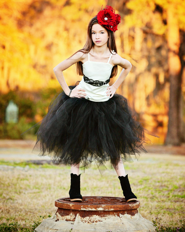 Ivory and Black Lace Flower Girl Dress--Tutu--Lace and ...  Ivory Lace Vintage Flower Girl Dress