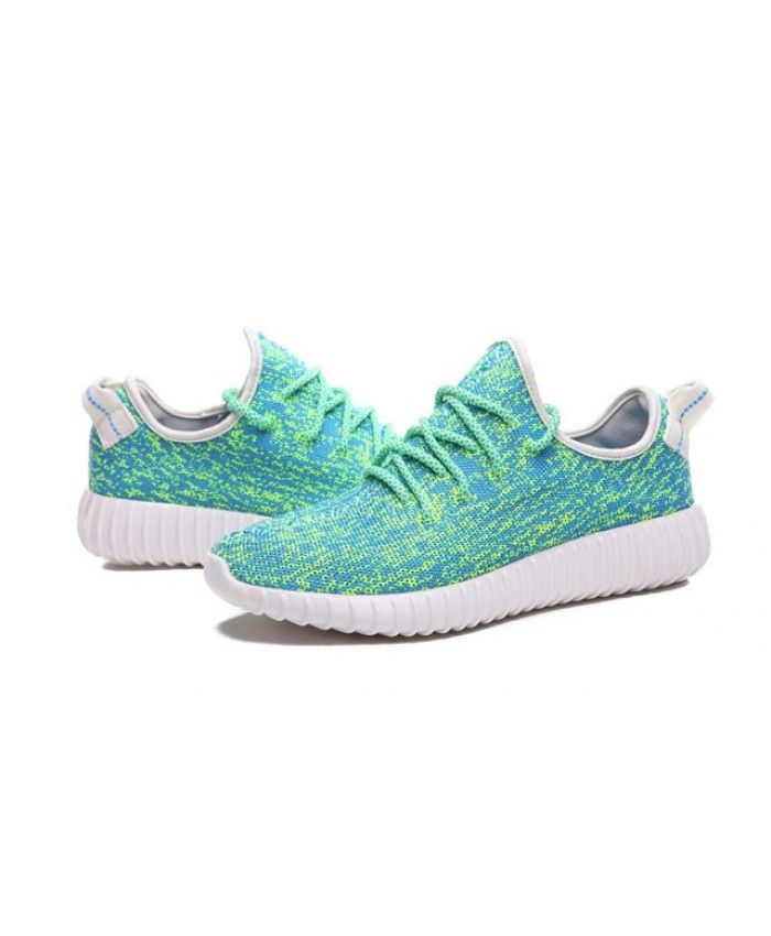 3f2bbc5a9eff Adidas Australia Yeezy 350 Boost Casual Sky Blue Fluorescent Green Trainers