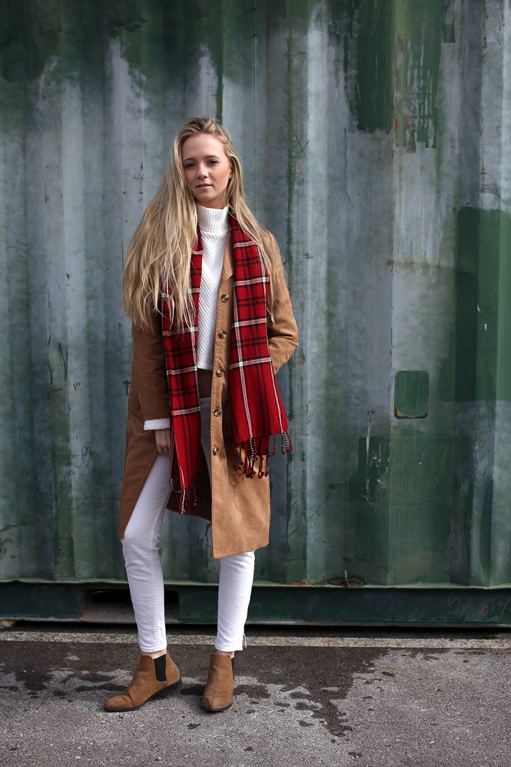 Women's Chic Red Check Plaid Wool Scarf Holiday Christmas Tassels Shawl at Amazon Women's Clothing store: Cold Weather Scarves