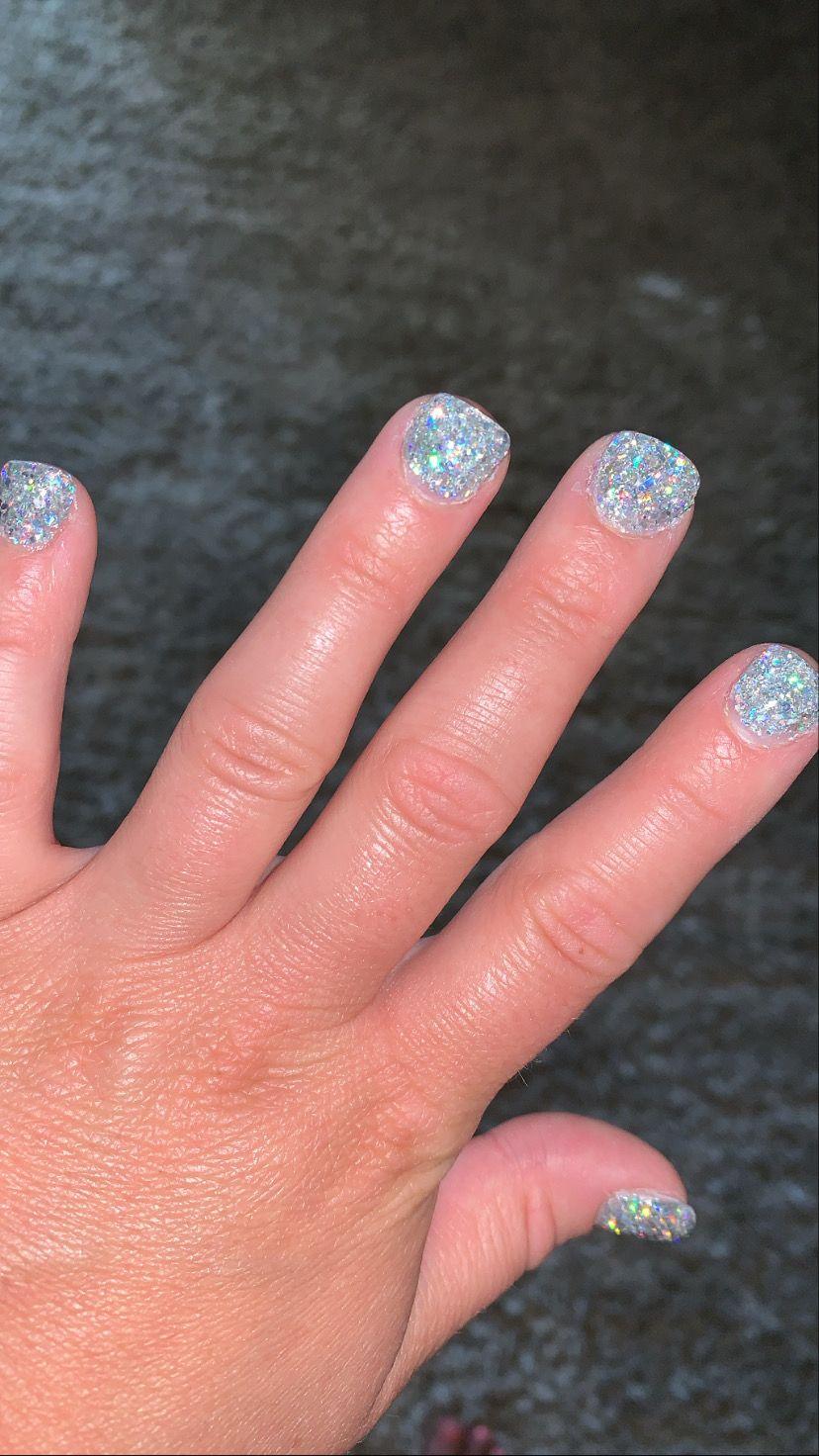 #dippowdernails #gelnails #glitternails