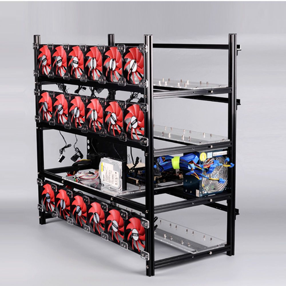 cryptocurrency mining rig case
