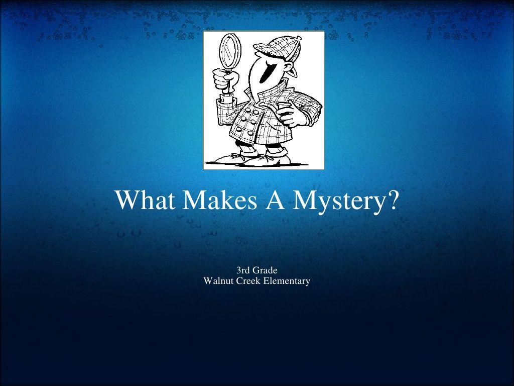 Mystery Unit 3rd Grade By Kmack924 Via Slideshare