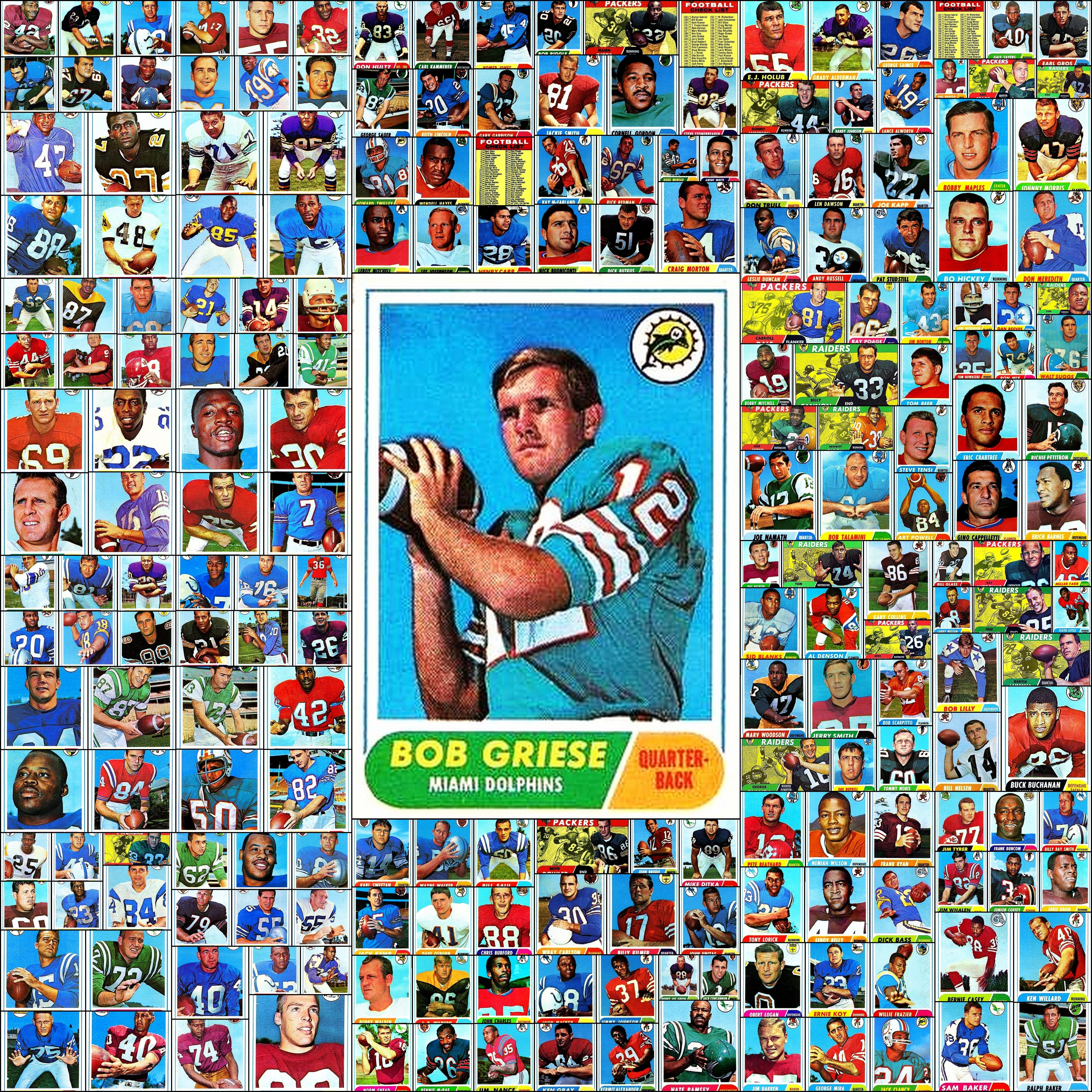 1968 topps football complete set baseball cards picture