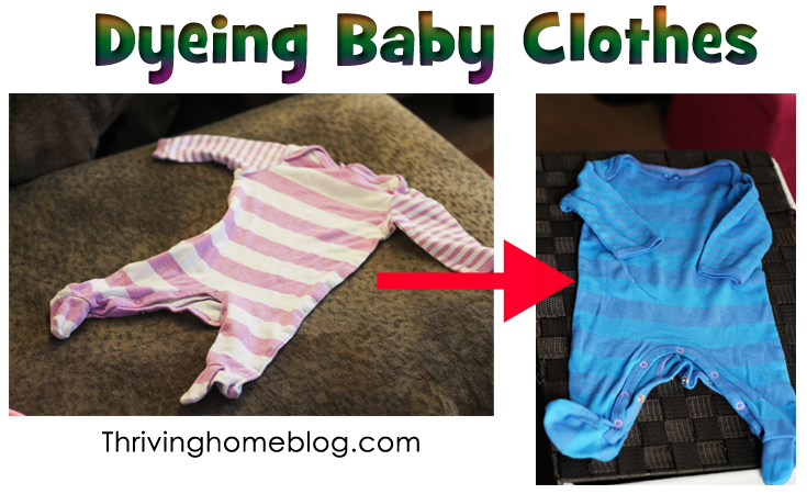 Dyeing Baby Clothes This Way I Can Turn Bulk Girl Clothes Into
