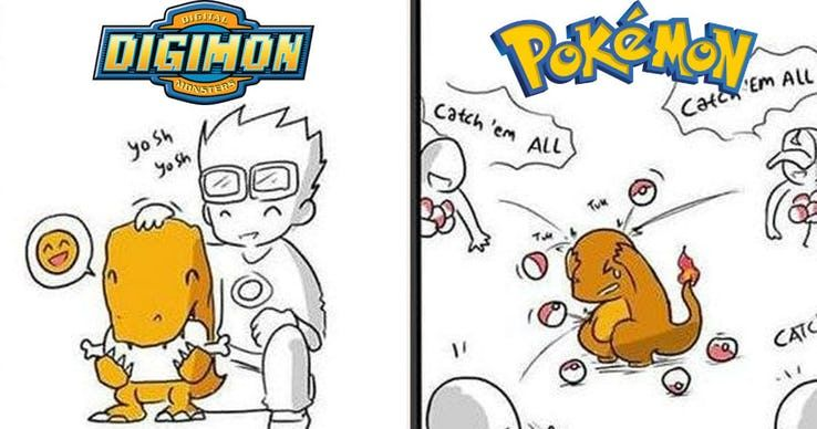15 Hilarious Digimon Vs Pokemon Memes Screenrant Digimon Memes Pokemon Vs Digimon Digimon