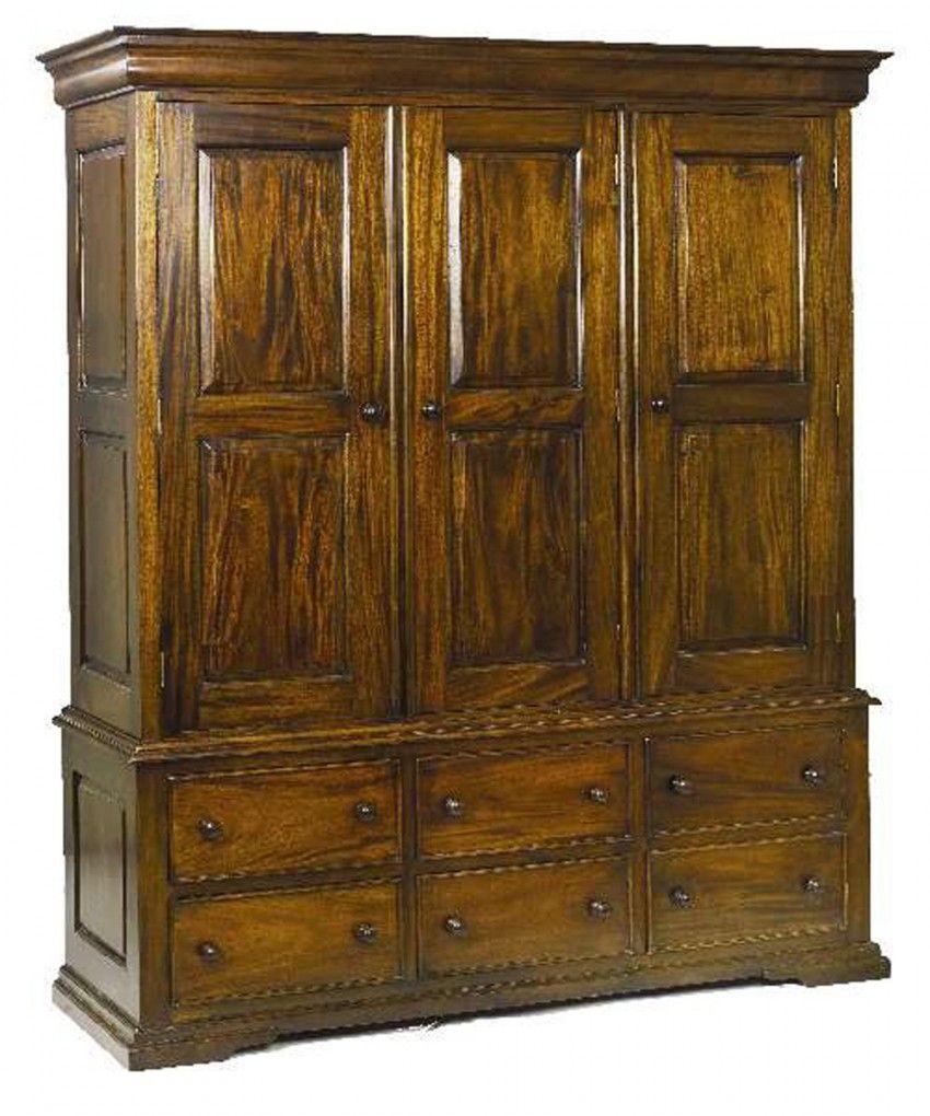 Caseys Furniture | Bordeaux 3 Drawer Robe | Wardrobes | Bedroom