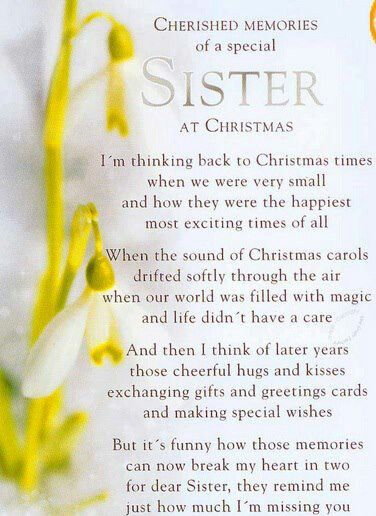 Cherished Memories For A Sister Loss Sister Poems Poems