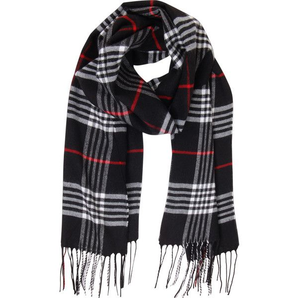 Humble Chic NY London Plaid Scarf (330 NOK) ❤ liked on Polyvore featuring accessories, scarves, black check, tartan plaid shawl, plaid cashmere scarves, black cashmere shawl, cashmere scarves and black shawl