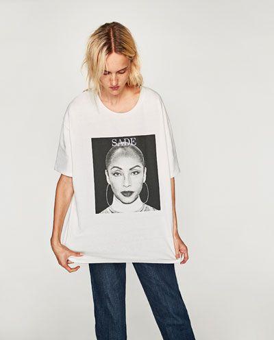 7173a10fe34 Image 2 of SADE PRINT T-SHIRT from Zara   <3   Shirts, T shirt, T ...