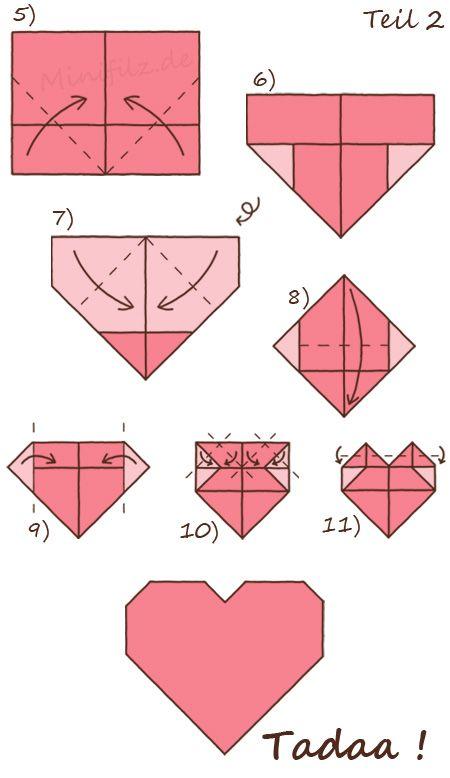 origami herz kreativ pinterest origami herz einfache origami und diy origami. Black Bedroom Furniture Sets. Home Design Ideas