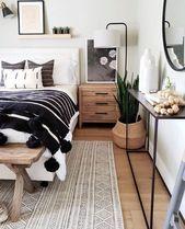 Photo of Dieses raffinierte Boho-Schlafzimmer ist der Traum dieses … – #BohoSchlafzimme…