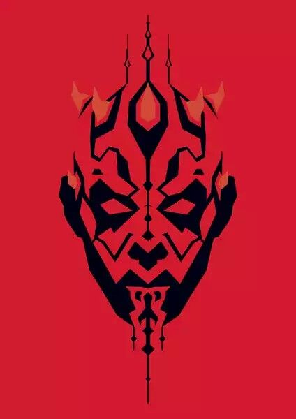 darth maul super h201roes y villanos star wars stencil