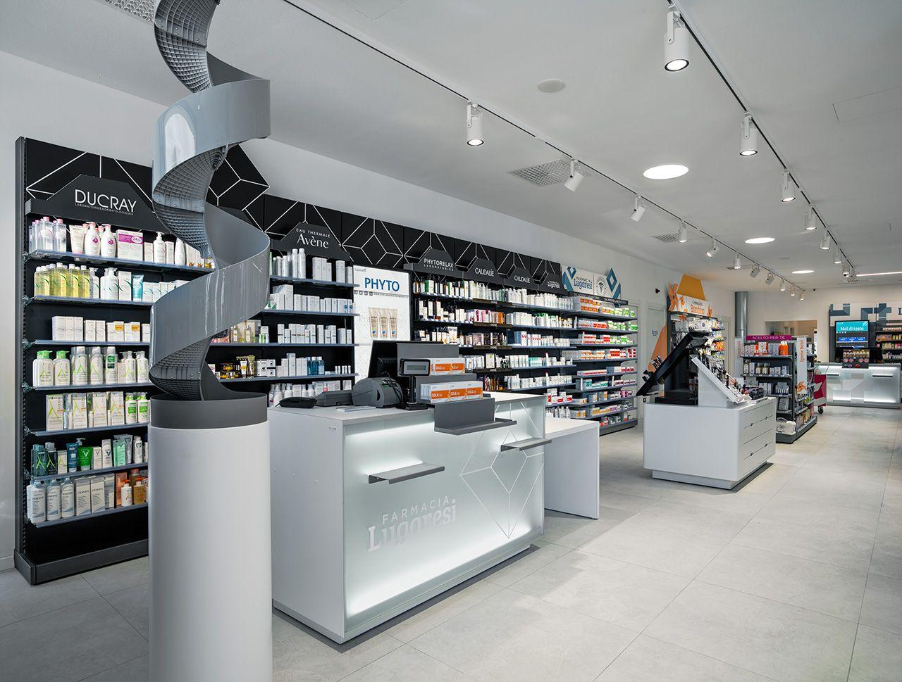 La progettazione farmacia si è ispirata alla nuova sede