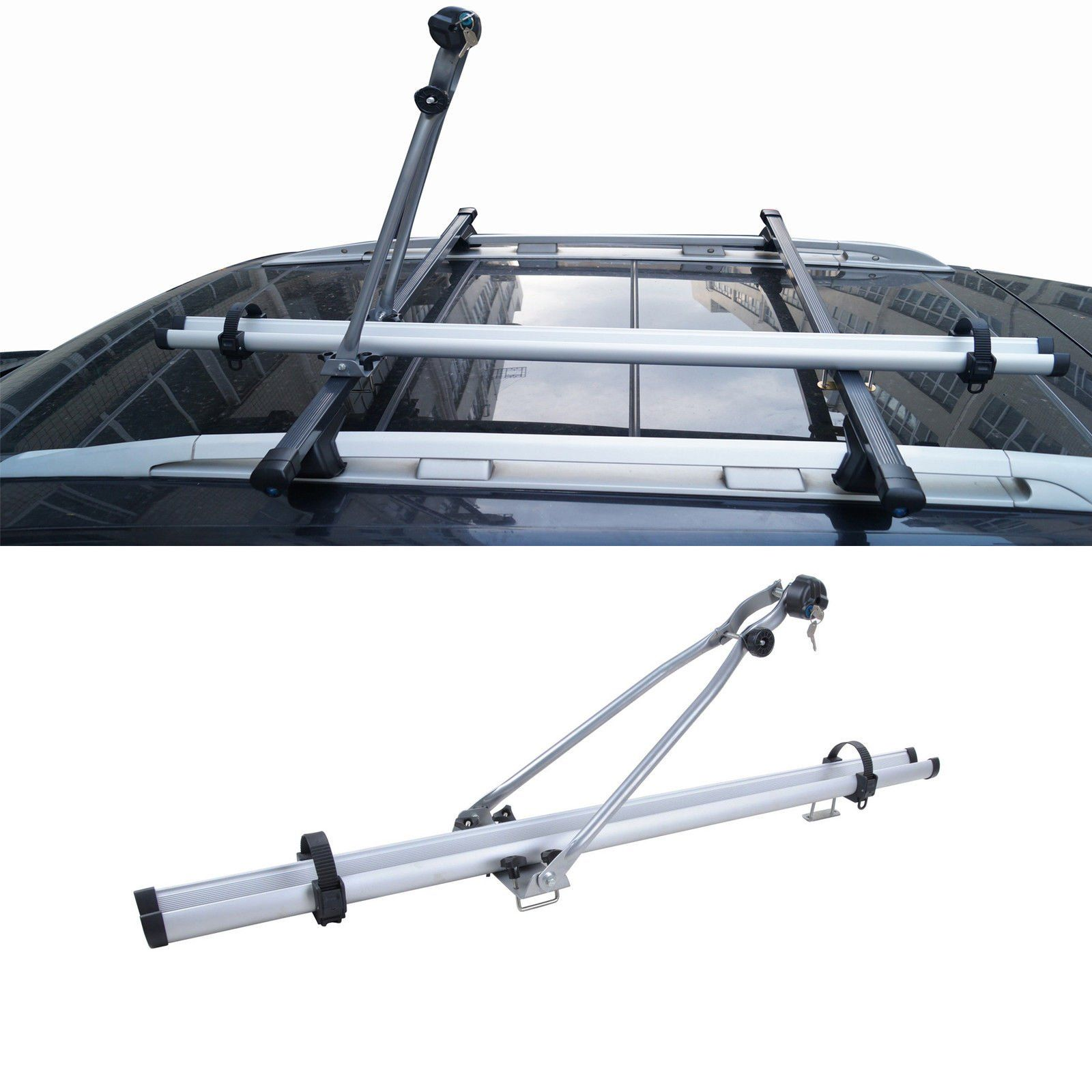 Luggage Rack For Suv Gorgeous 1Pc Bicycle Crossbarmount Upright Roof Universal Aluminum Rack Design Decoration
