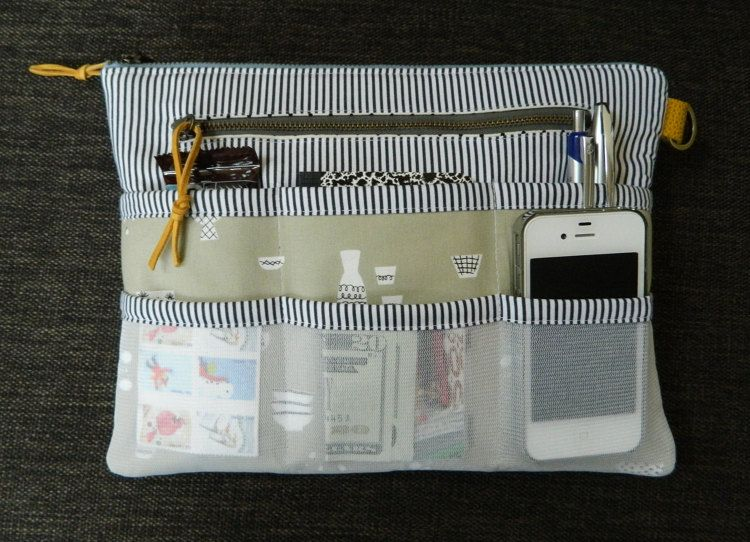 Purse Organizer {PDF sewing pattern} instant download, zipper pouch ...