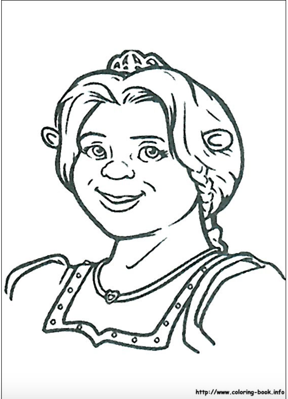 shrek fiona coloring pages - photo#18