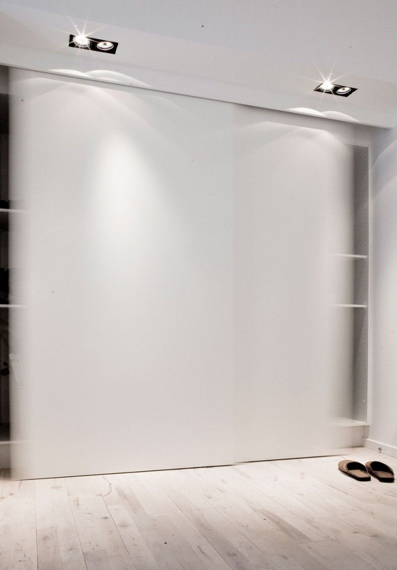 Copenhagen Penthouse I / NORM Architects @normarchitects #bedroom #white #wall #panel #wardrobe #dressing #closet #lighting #minimalism