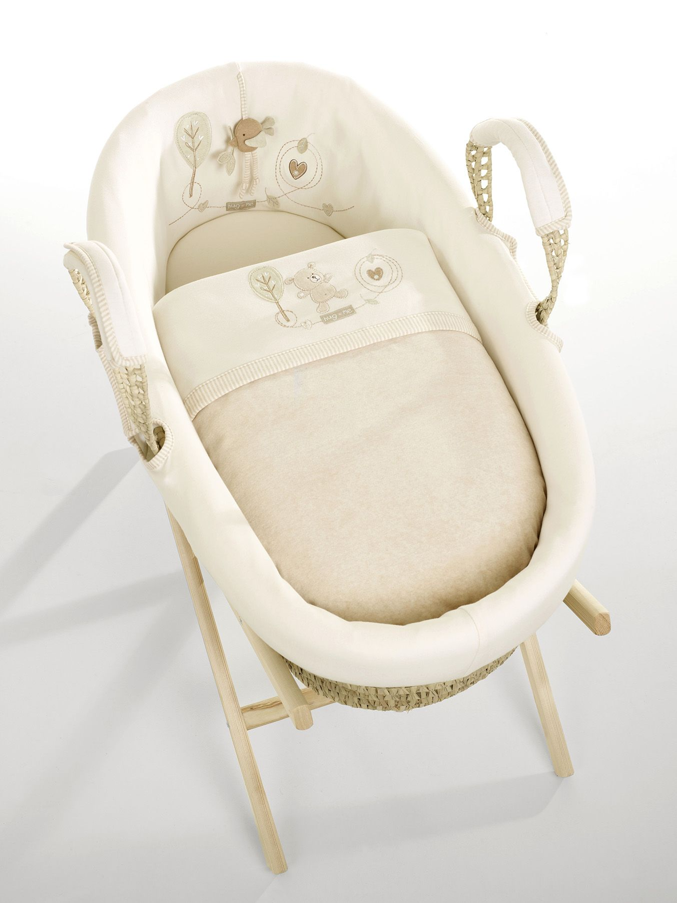 Hug Me Dressed Mosesbasket From Natures Purest Made From Organically Grown Naturally Coloured Cotton Organic Moses Basket Nature Baby Shower Pure Products