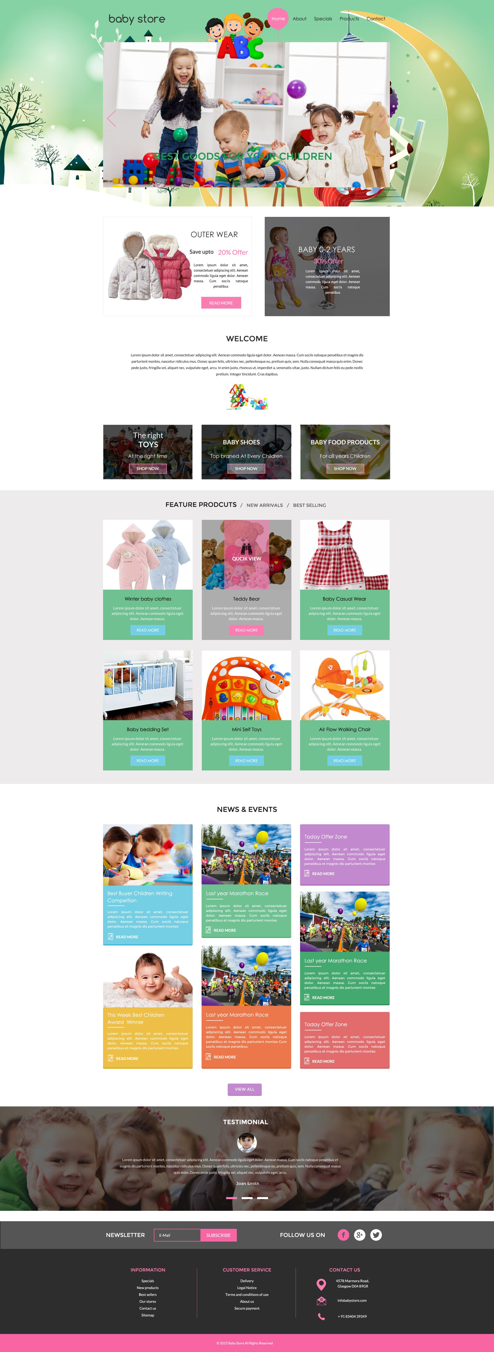 Sells Baby Store Template One Of The Best Website Builder In - Design your own website template