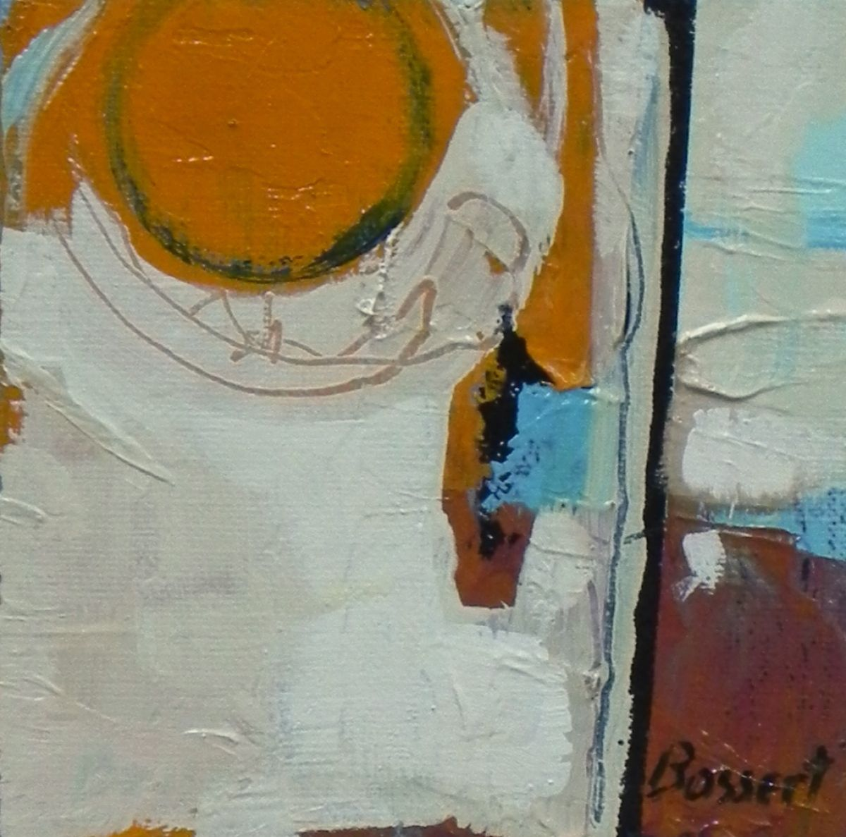 """Contemporary Painting - """"Blue Pool, abstract, oil, painting"""" (Original Art from Nancy Bossert)"""