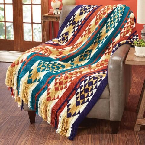 Herrschners/® Southwestern Stripes Afghan Kit