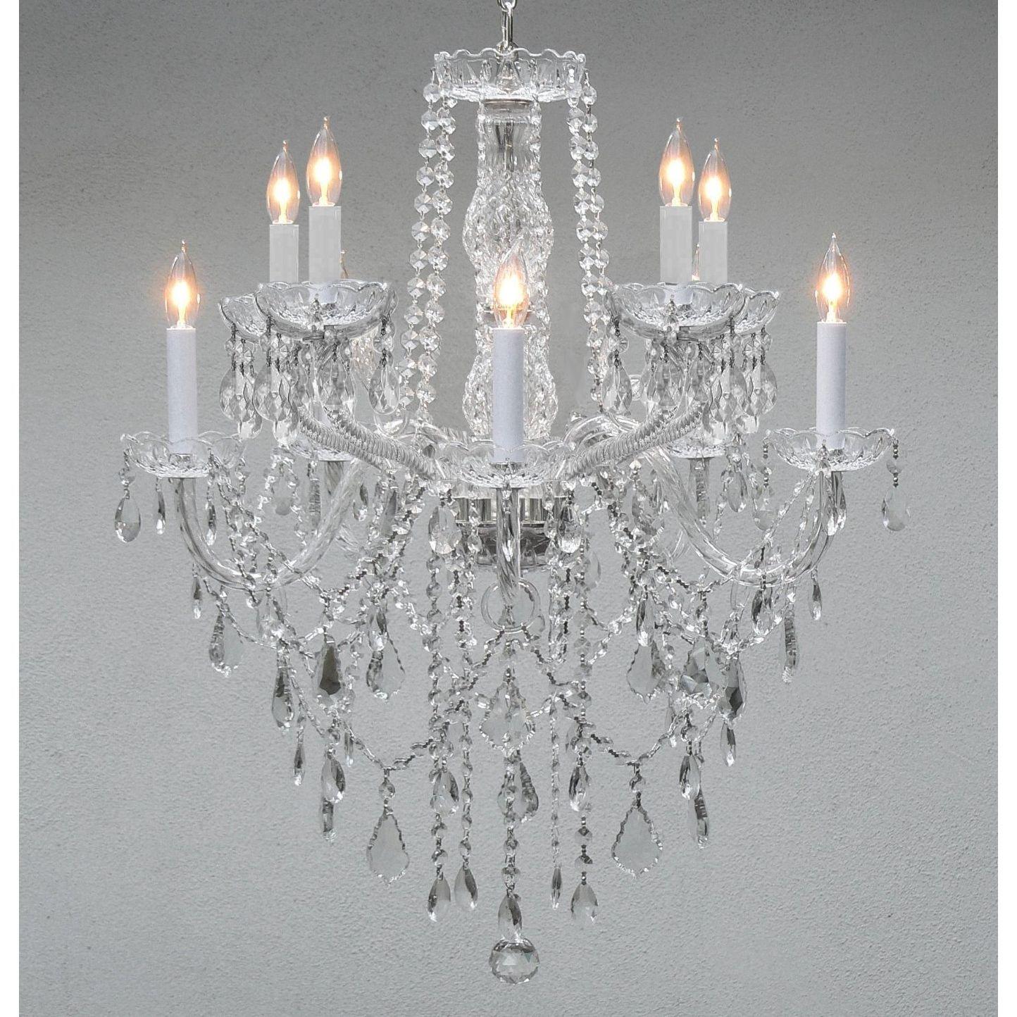 Swag Plug In Swarovski Crystal Trimmed Chandelier Lighting