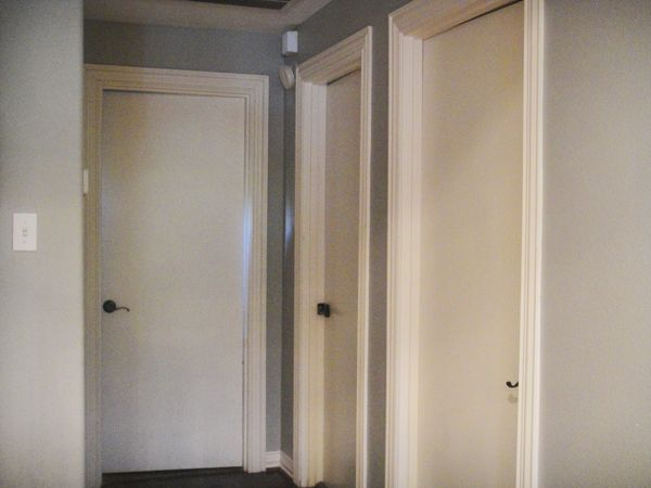 Plain White Door smooth interior doors before  pretty doors after. a well