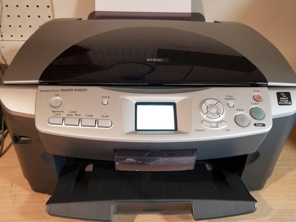 Epson Stylus Photo Rx620 All In One Inkjet Printer Epson Epson Inkjet Printer Inkjet Inkjet Printer