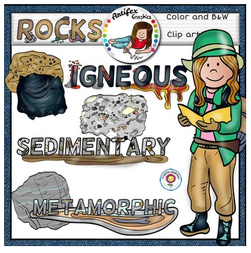 Science clip art: Geology- Rocks clip art set -Color and B&W- 52 items! Printable Download | Science clipart, Geology, Geology rocks