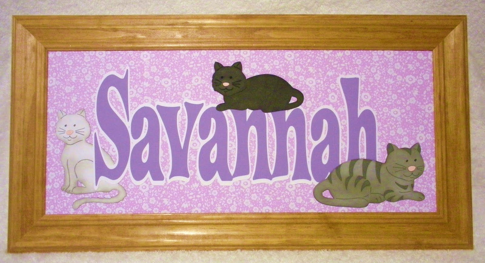 FlamingoCrafts: Savannah Name Frame | My name | Pinterest | chats ...