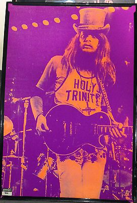 RARE-Vintage-Gemini-Rising-184-Purple-Black-Light-Poster-Leon-Russell-36-x-24