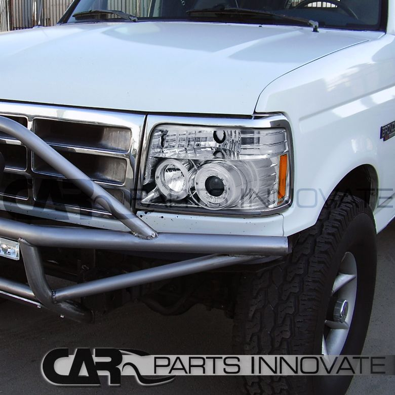 Details about For Ford 92-96 F150 F250 F350 Bronco LED Halo